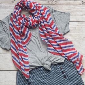 Accessories - Red, White and Blue Scarf
